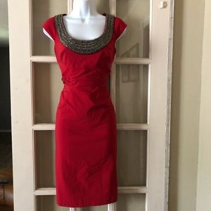 Adrianna Papell Beaded Ruched Dress